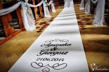 Biały dywan czerwony wynajem na śluby eventy, Dekoracje ślubne Sanok