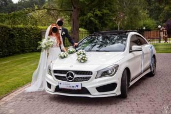 Luksusowy, sportowy i biały Mercedes AMG - Atrakcyjna oferta, Samochód, auto do ślubu, limuzyna Żywiec