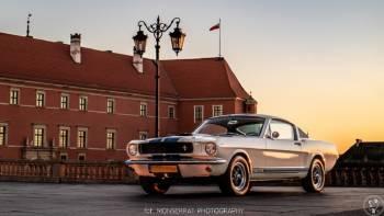 Ford Mustang 1966r GT350 biały zabytkowy do ślubu - klimatyzacja!, Samochód, auto do ślubu, limuzyna Kozienice