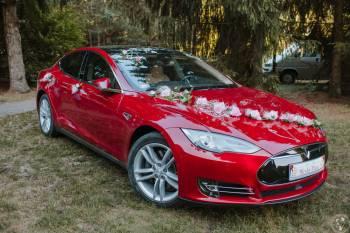 Tesla S do Ślubu 524 KM, wieczory kawalerskie, panieńskie, Samochód, auto do ślubu, limuzyna Mońki