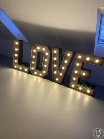 Napisy  Podświetlane LOVE , Napis Love Brzeszcze