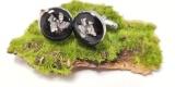 Spinki do mankietów z żywicy epoksydowej, Ozimek - zdjęcie 2