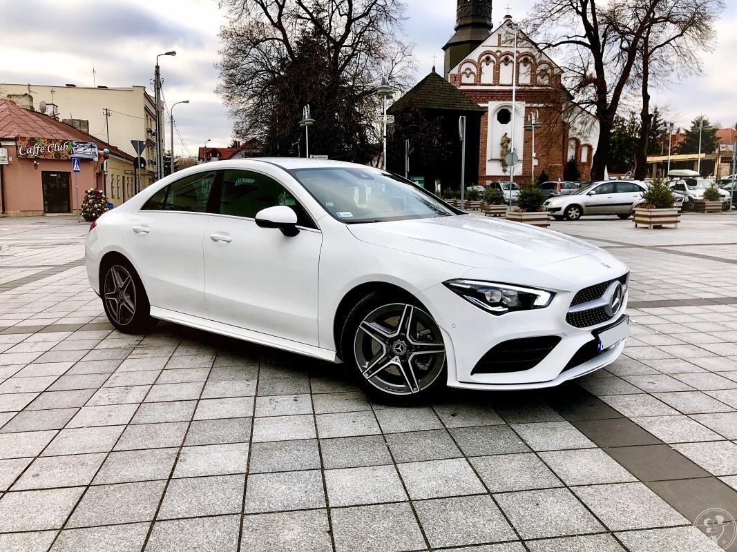 Mercedes CLA pakiet AMG biały czarne skóry 2019r 174 km coupe 5 drzwi, Piaseczno - zdjęcie 1