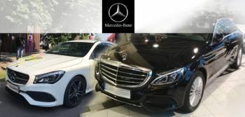 Wynajem aut na ślub: Biały mercedes CLA oraz czarna C-klasa, Od 450 zł, Samochód, auto do ślubu, limuzyna Swarzędz