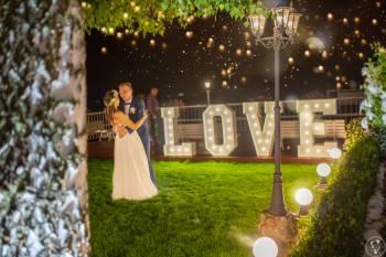 M&M Show, dekoracja światłem, napis love, taniec w chmurach, dj, Dekoracje światłem Pruszków