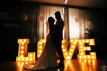 Napis LOVE 120 cm DUŻY, Fotobudka + kabina LED (iglo) + Napis LOVE, Napis Love Międzylesie