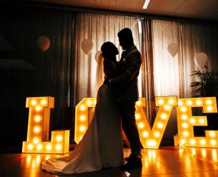 Napis LOVE 120 cm DUŻY, Fotobudka + kabina LED (iglo) + Napis LOVE,  Wrocław