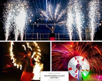 ZJAWISKOWE SHOW! Pokaz OGNIOWY FIRESHOW, Pokazy LED SHOW, Iluzjonista, Teatr ognia Warszawa