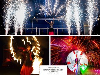 ZJAWISKOWE SHOW! Pokaz OGNIOWY FIRESHOW, Pokazy LED SHOW, Iluzjonista,  Warszawa