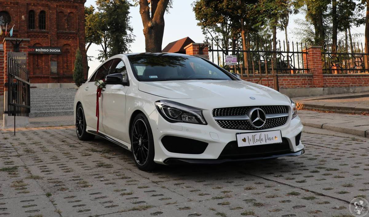 Luksusowe Auto do ślubu  Mercedes CLA 250 w pakiecie AMG, Zgierz - zdjęcie 1