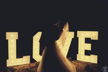 Napis LOVE / Taniec w chmurach / Dekoracja Światłem LED, Napis Love Piotrków Kujawski