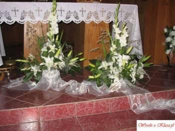 kwiaciarnia: dekoracja sal, kościołów, bukiety , Dekoracje ślubne Oława