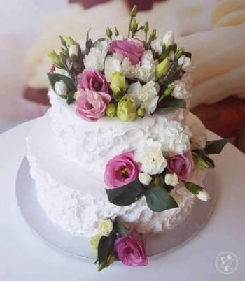 Cukiernia Słodki Bazaar-słodki stół, tort weselny, upominki dla Gości, Tort weselny Brzeszcze