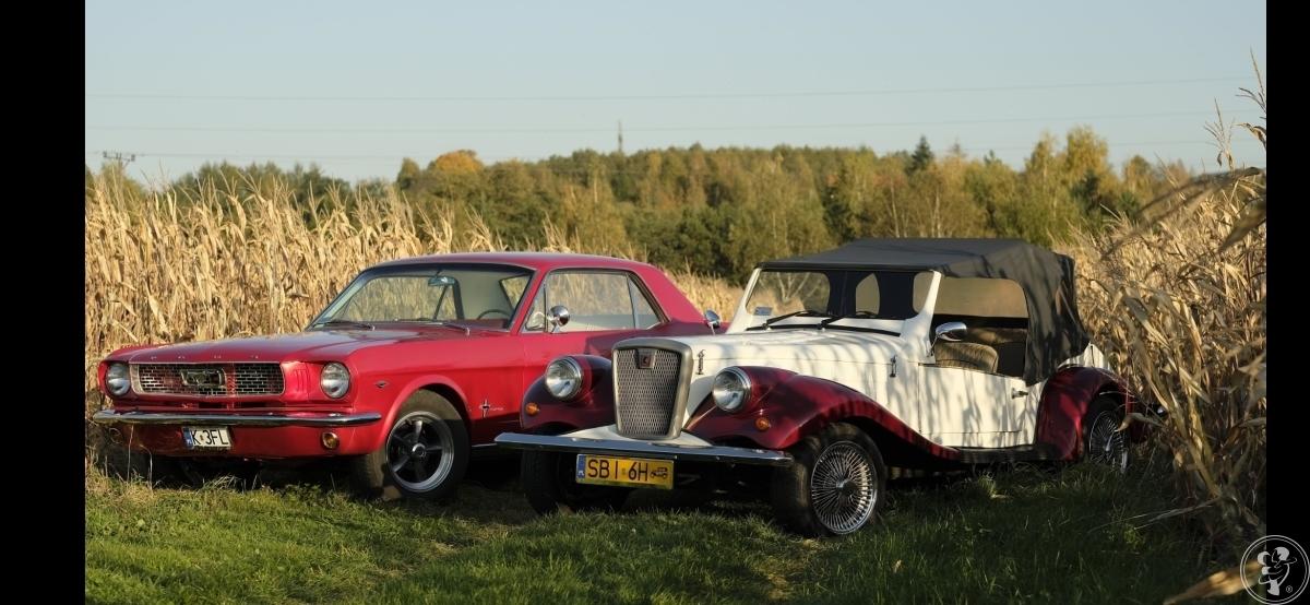 Retro Samochód - Auto do ślubu - Ford Mustang 1966r - Replika Spratan, Kęty - zdjęcie 1