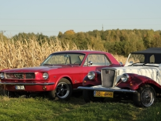 Retro Samochód - Auto do ślubu - Ford Mustang 1966r - Replika Spratan,  Kęty