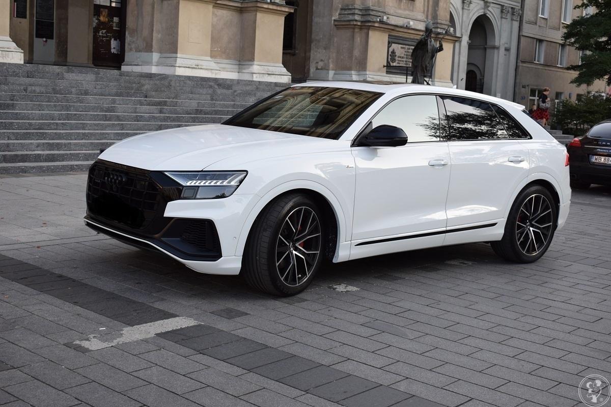Auto do ślubu  zawiozę odwiozę śluby wesele  Audi Q8  BIAŁE przystroje, Warszawa - zdjęcie 1