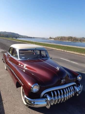 Buick 1950 Amerykański klasyk do ślubu, Samochód, auto do ślubu, limuzyna Różan