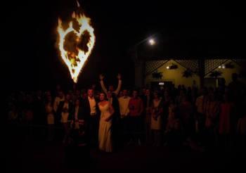 Teatr Żywiołów Versus -  taniec z Ogniem + Płonące serce, Teatr ognia Skarżysko-Kamienna