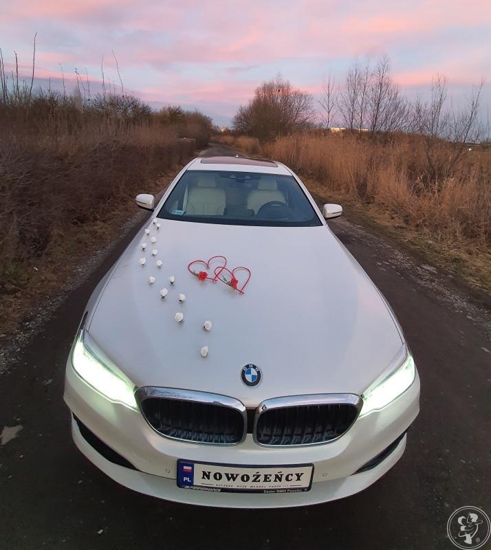 BMW Serii 5 - od 350zł - Biała Perła - Auto do Ślubu, Kraków - zdjęcie 1