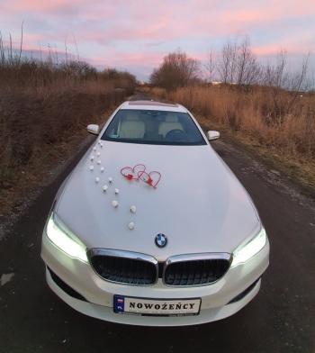 BMW Serii 5 - od 350zł - Biała Perła - Auto do Ślubu, Samochód, auto do ślubu, limuzyna Żabno