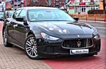 Auto limuzyna samochód Maserati do ślubu i na wesele, Samochód, auto do ślubu, limuzyna Białystok