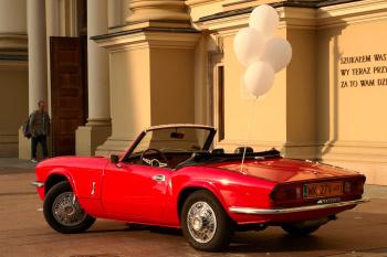 Szałowe kabriolety Triumph Spitfire oraz Triumph Moss Roadster, Samochód, auto do ślubu, limuzyna Ostrów Mazowiecka