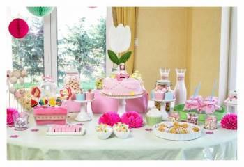 Happy Table-słodki stół z tematyczną aranżacj, Słodki kącik na weselu Bielsko-Biała