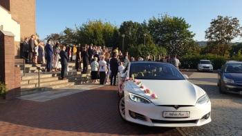 Tesla Do Ślubu    100% elektryczna, Samochód, auto do ślubu, limuzyna Łask
