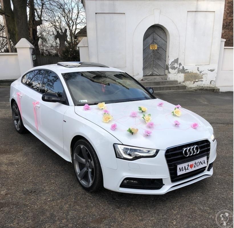 Eleganckie Białe Audi A5 S-Line Do Ślubu, Proszowice - zdjęcie 1