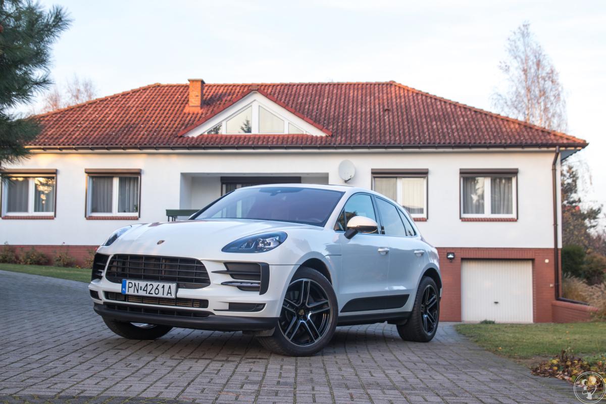 Porsche do ślubu, wynajem auta do ślubu, Porsche Macan, biały, Konin - zdjęcie 1