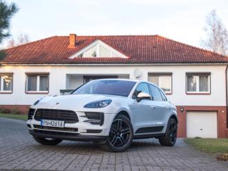 Porsche do ślubu, wynajem auta do ślubu, Porsche Macan, biały,  Konin