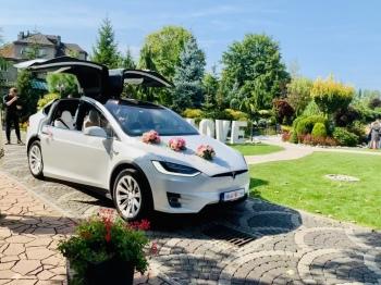 Spektakularna Tesla Model X do ślubu ! Nie porsche ferrari audi bmw me, Samochód, auto do ślubu, limuzyna Tarnowskie Góry