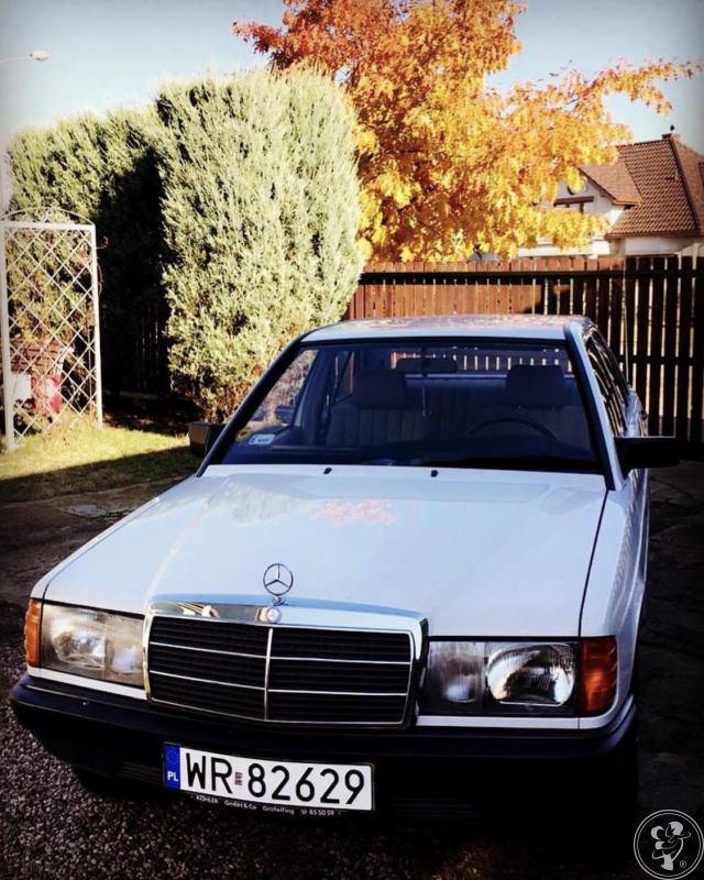 YOUNGTIMER - Auto do Ślubu - Piękny biały Mercedes 190D (W201), klasyk, Oświęcim - zdjęcie 1