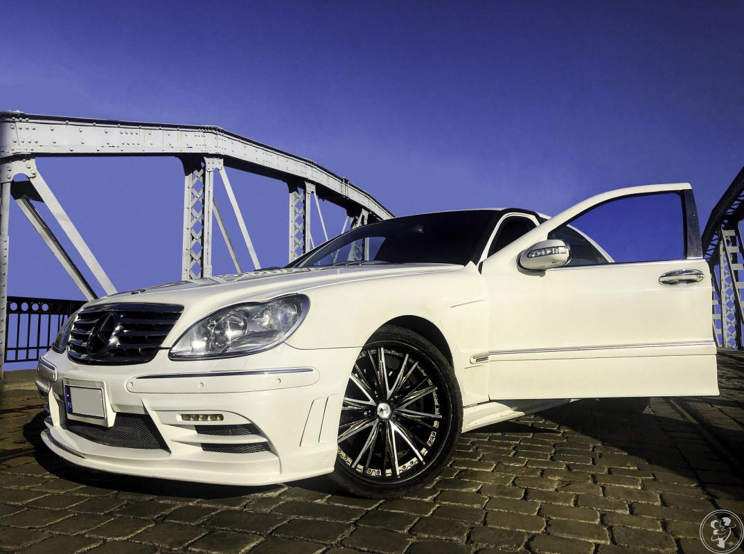 Elegancki biały Mercedes S600 L na ślub, Wrocław - zdjęcie 1
