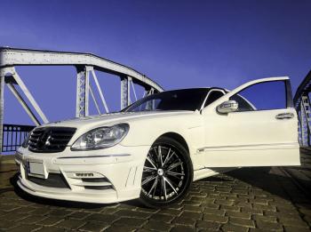 Elegancki biały Mercedes S600 L na ślub, Samochód, auto do ślubu, limuzyna Jedlina-Zdrój