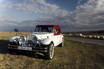 Ślub z Alfą. Wynajem samochodu retro - Nestor Baron., Samochód, auto do ślubu, limuzyna Chrzanów