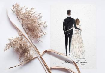 Lojesia - personalizowane dekoracje i zaproszenia, Zaproszenia ślubne Lidzbark