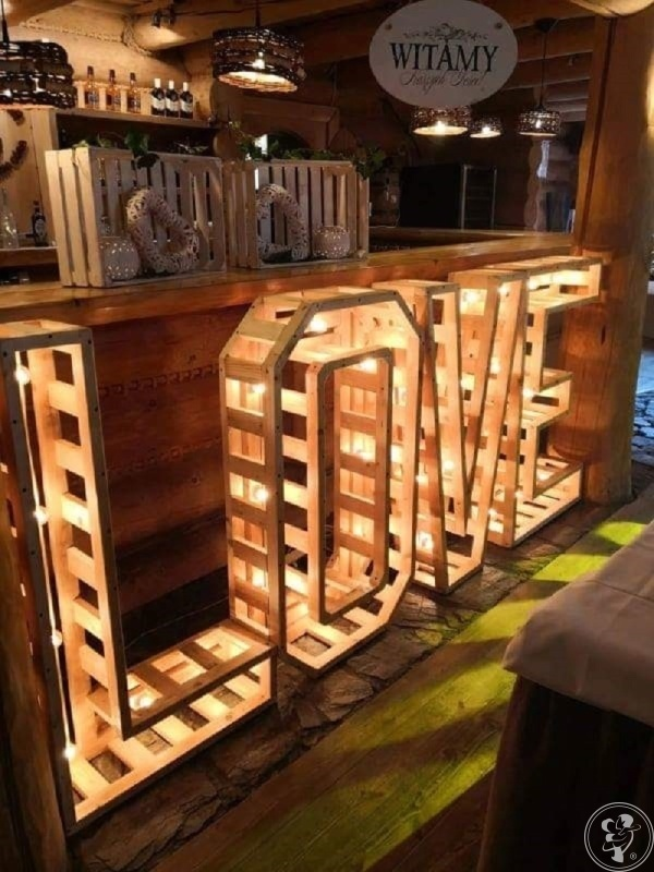 Drewniany rustykalny NAPIS LOVE, Kłodzko - zdjęcie 1