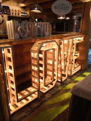 Drewniany rustykalny NAPIS LOVE, Napis Love Olszyna