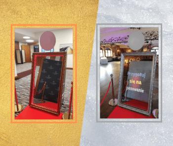 Promocja FIRST MINUTE Magiczne Lustro złote i srebrne,  fotolustro, Fotobudka, videobudka na wesele Żukowo