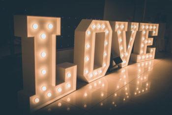 NAPIS LOVE   Duży  120 CM, Napis Love Pszczyna