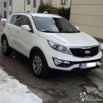 Kia Sportage *biała* perła, na ślub i inne imprezy, Samochód, auto do ślubu, limuzyna Żabno