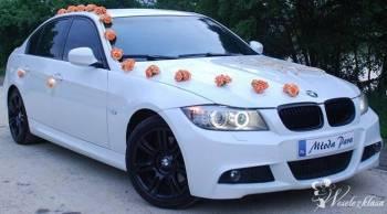 BMW M PAKIET *biała* do ślubu, Samochód, auto do ślubu, limuzyna Wołów