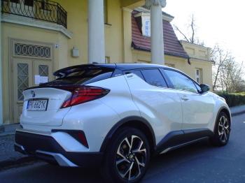 Auto, samochód do ślubu  Biało-czarna, perłowa Toyota C-HR, Samochód, auto do ślubu, limuzyna Sulmierzyce