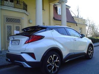 Auto, samochód do ślubu  Biało-czarna, perłowa Toyota C-HR,  Kalisz