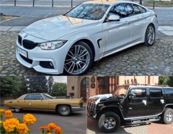 BMW, Cadillac, HUMMER - auto do ślubu, Samochód, auto do ślubu, limuzyna Pniewy