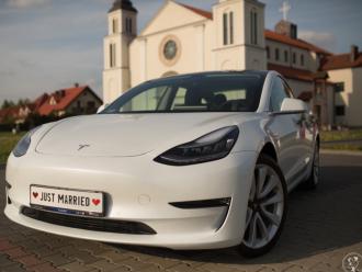 Tesla Model 3 do ślubu, auto na wesele, wynajem Tesli,  Warszawa