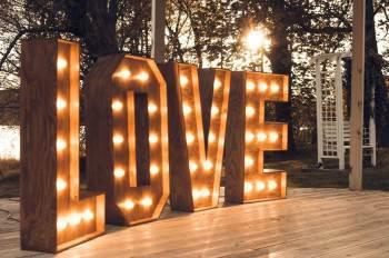 Drewniany napis świetlny LOVE 3D - styl rustykalny, boho, Napis Love Raszków