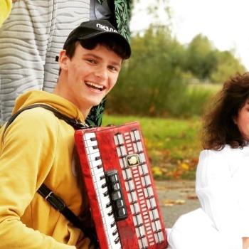 Akordeonista biesiada ukłony błogosławieństwo, Artysta Chełm