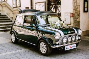 klasyczne Mini Cooper i nowe MIN na Twoje wesele,  sesja zdjęciowa, Samochód, auto do ślubu, limuzyna Kuźnia Raciborska